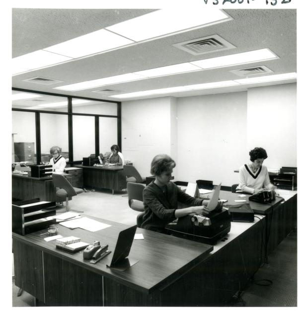 Wilson Library staff office area, 1968, http://purl.umn.edu/226255