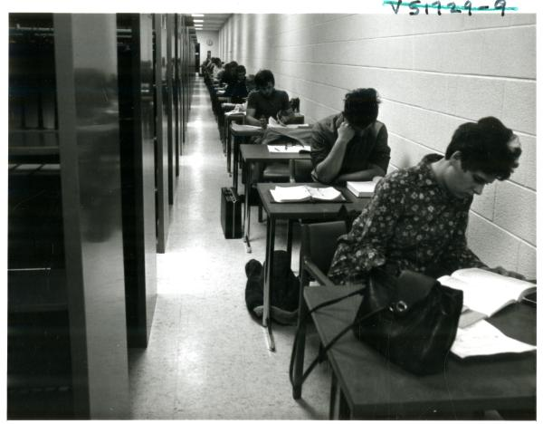 Students studying in Wilson Library, 1968, http://purl.umn.edu/226290