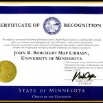 Governor's Award to Borchert Map Library