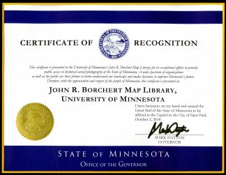 Governor's Award to Borchert Map Library
