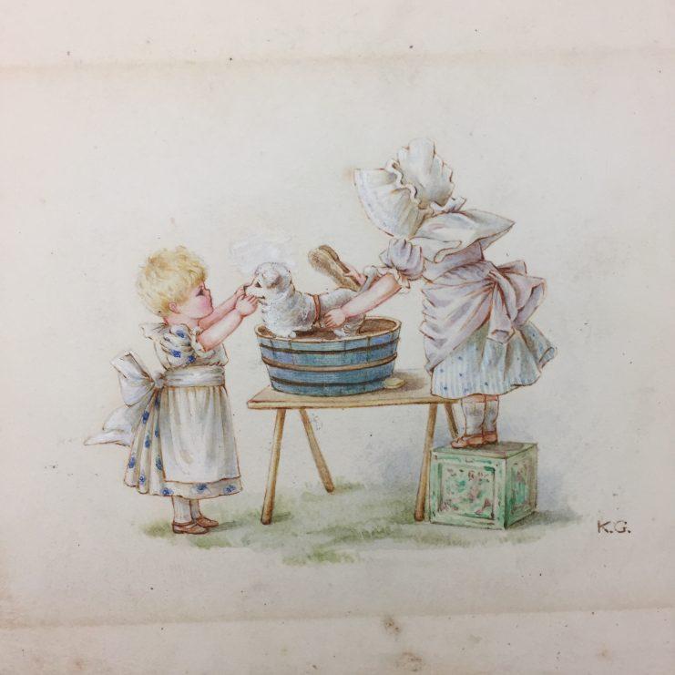 Kate Greenaway watercolor