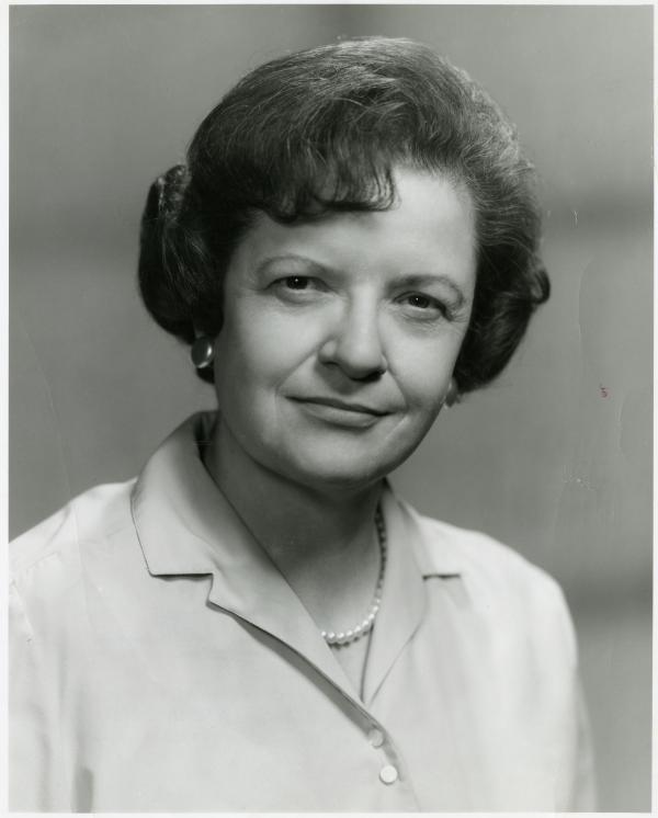 KUOM Program Manager, Betty Girling, 1967.