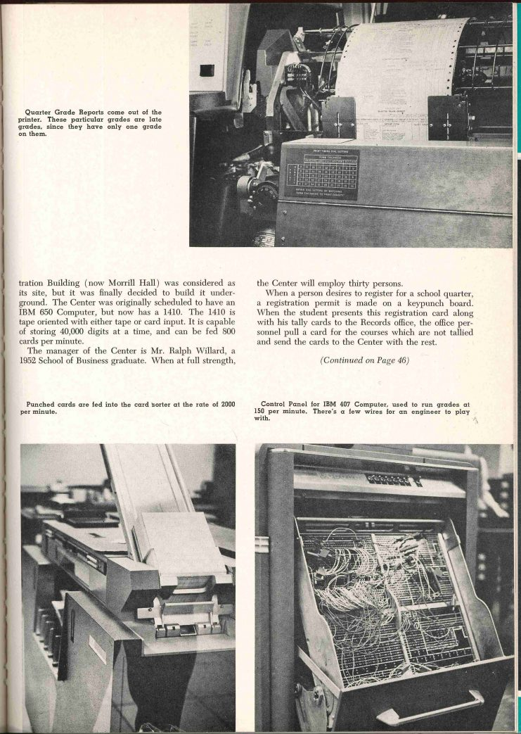 Technolog, an engineering journal published by University students, included an introduction to the University's new Data Processing Center in its January 1963 issue.