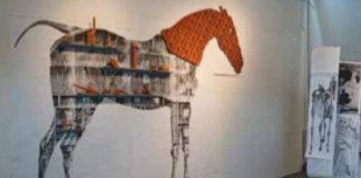 Horse form from the exhibit Two Sites with a Similar Problem: Neil Forrest and John Roloff