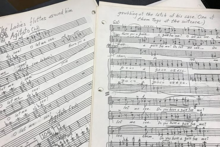 """Handwritten score for """"Postcards from Morocco"""""""