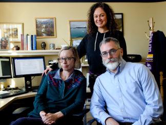 Wendy Haight, Cary Waubanascum, and Scott Marsalis