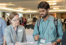 Librarian Danya Leebaw and Associate Professor Krishnamurthy Iyer