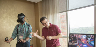 Associate Professor Krishnamurthy Iyer, College of Science and Engineering, and Librarian Jonathan Koffel