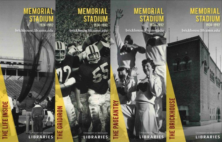 Brickhouse exhibit bookmarks (Interested in having a set of four? Contact University Archives and we'll be glad to mail you a set.)