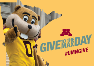 Giving Day image with Goldy for UMN