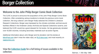 screen shot of Borger Collection