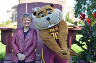 Wendy with Goldy