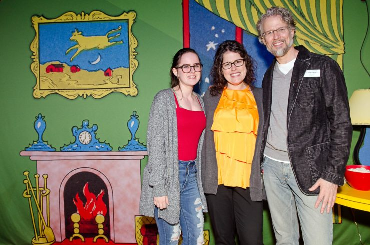 The ABC of It exhibit included a life-sized replica of the great green room, created by exhibit designer Darren Terpstra (pictured at right), to provide another photo opportunityfor guests.