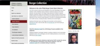 screen shot Borger Website
