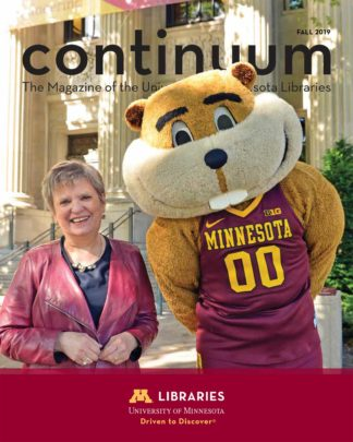 continuum 2019 cover with Wendy Lougee and Goldy