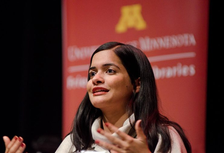 The second event in the Friends Forum series took place in December 2018. The panel discussion — #MeToo: Monumental or Momentary? — led by Sara Evans, UMN Regents Professor Emerita and Friends of the Libraries board member, generated thought-provoking conversation both before and after the event. Panelists Mariam Mohamed, Simran Mishra (pictured), Carolyn Chalmers, and Lindsey Middlecamp joined Sara Evans in this important discussion.