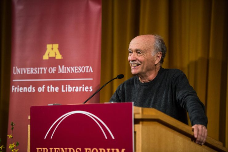 Teaching poetry while in prison, being present at an airport bomb explosion, and traveling internationally have shaped Jim Moore as a writer and pivotal figure on Minnesota's poetry scene for more than four decades. Moore read from his work for the Pankake Poetry Series in April.