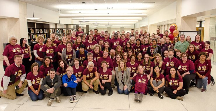 September 2018 marked the 50th anniversaryof Wilson Library — home to collections about the arts, humanities, and social sciences — locatedon the west bank of the University of Minnesota, Twin Cities campus. Students, faculty, staff, alumni,and friends gathered to celebrate the big day.