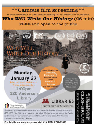 Who Will Write Our History film screening poster