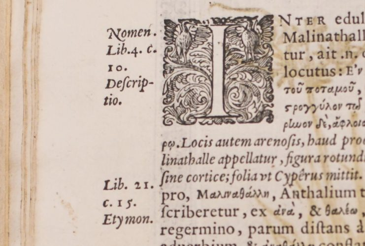Image from rare book with ornate initial letter