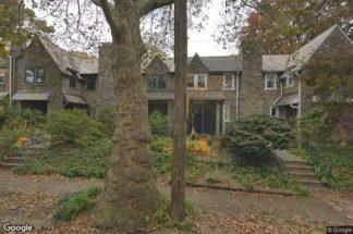 street view of row house in Philadelphia neighborhood