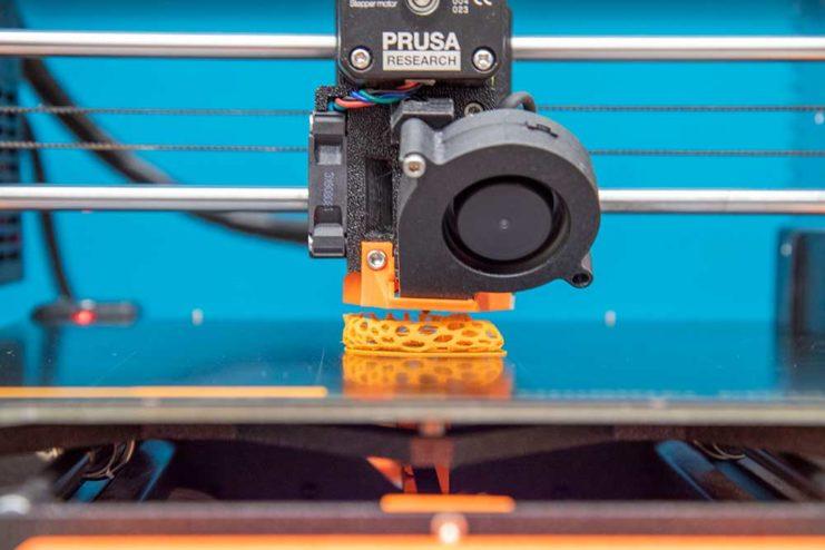 Closeup of the 3D Printer