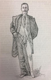 Man wearing artificial leg from 18th century.