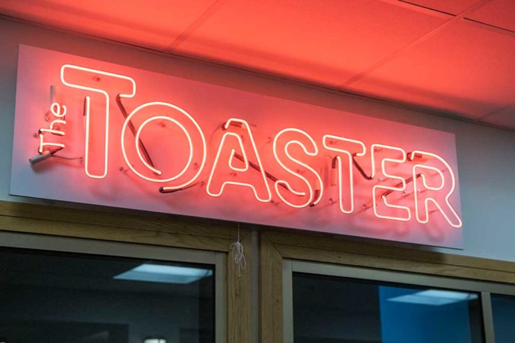 The Toaster Sign Close up