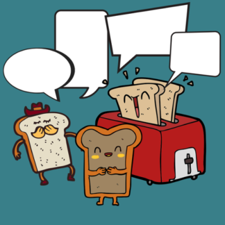 Toaster: The space is yours. image of great being toasted in a toaster.