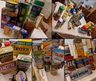 Sample supply of food for the COVID-19 Emergency 14-day Meal Kit