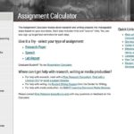 Assignment Calculator web page