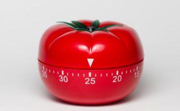 Tomato shaped analog timer