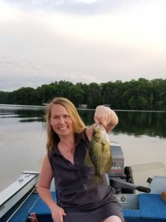 Amy Riegelman with a fish