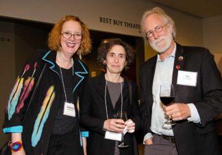 Catherine-Jordan, Elizabeth Kolbert, and Jim Lenfestey a the 2017 Friends event at Northrop.