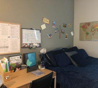 Jamaya's desk and work area