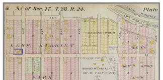 Map of housing in neighborhood around Lake Harriet