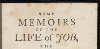 Some memoirs of the life of Job, from the James Ford Bell Library, which was recently accessed by students in a small college in Ohio.