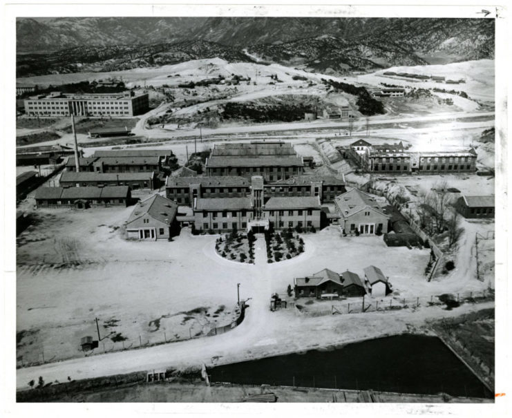 A low altitude aerial photograph of SNU campus that shows the engineering buildings, prior to reconstruction, taken in 1955. Source: University of Minnesota Archives, Photograph Collection.