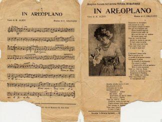Sheet Music In Aeroplano