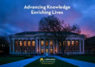 Walter Library with U of M branding.