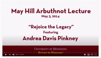 May Hill Arbuthnot Lecture with Andrea Davis Pinkney