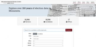 Minnesota Historical Election Archive home page