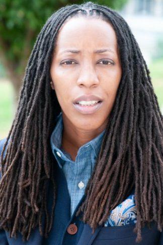 Facefront headshot, Dr. Bettina Love, Female presenting Black educator