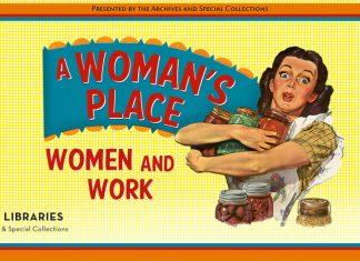 Woman's Place exhibit banner