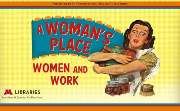Woman's Place exhibit banner