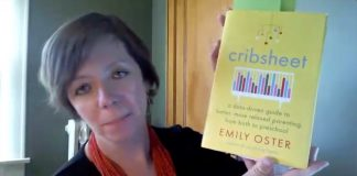 Carissa Tomlinson with the book, Cribsheet
