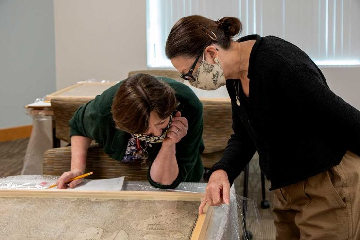 Maggie Ragnow and Sherelyn Ogden examine the Ricci Map