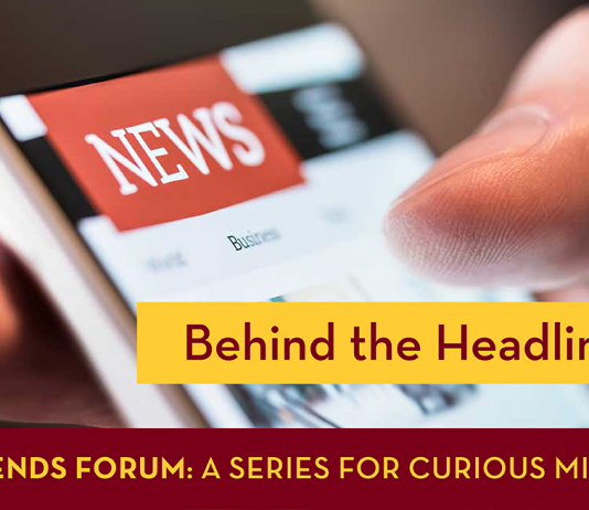 Behind the Headlines with a smartphone