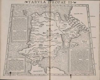 16th Century map of Spain