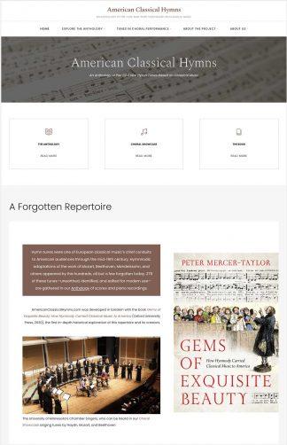 Screen shot of Website of note